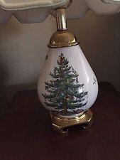 Christmas Tree Table Lamp 2 My Spode Christmas Tree Inventory
