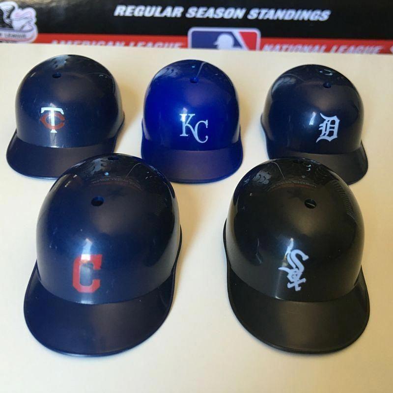 Al Central Mini Baseball Helmets Baseballstandings Baseballhelmet With Images Baseball Helmet Youth Baseball Gloves Plastic Baseball