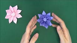 Paper Flower Tutorial - Origami Easy - YouTube | 138x246
