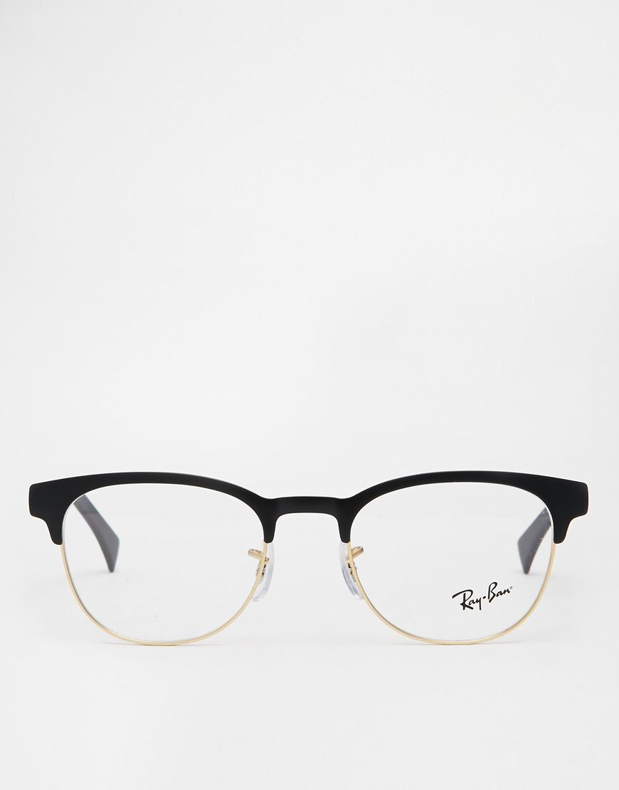 Ray-Ban Clubmaster Glasses 0RX6317 at asos.com