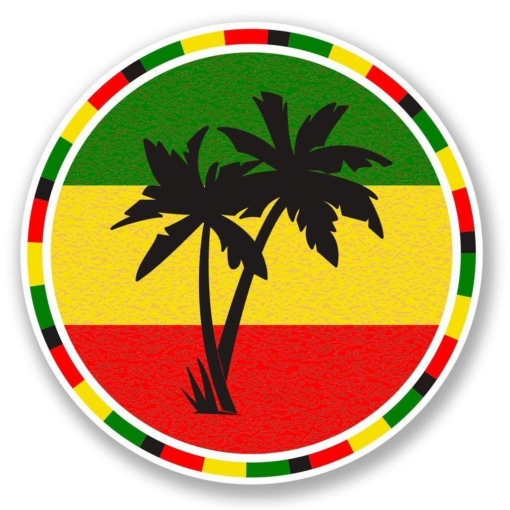 2 x jamaica rasta palm tree vinyl sticker 5649