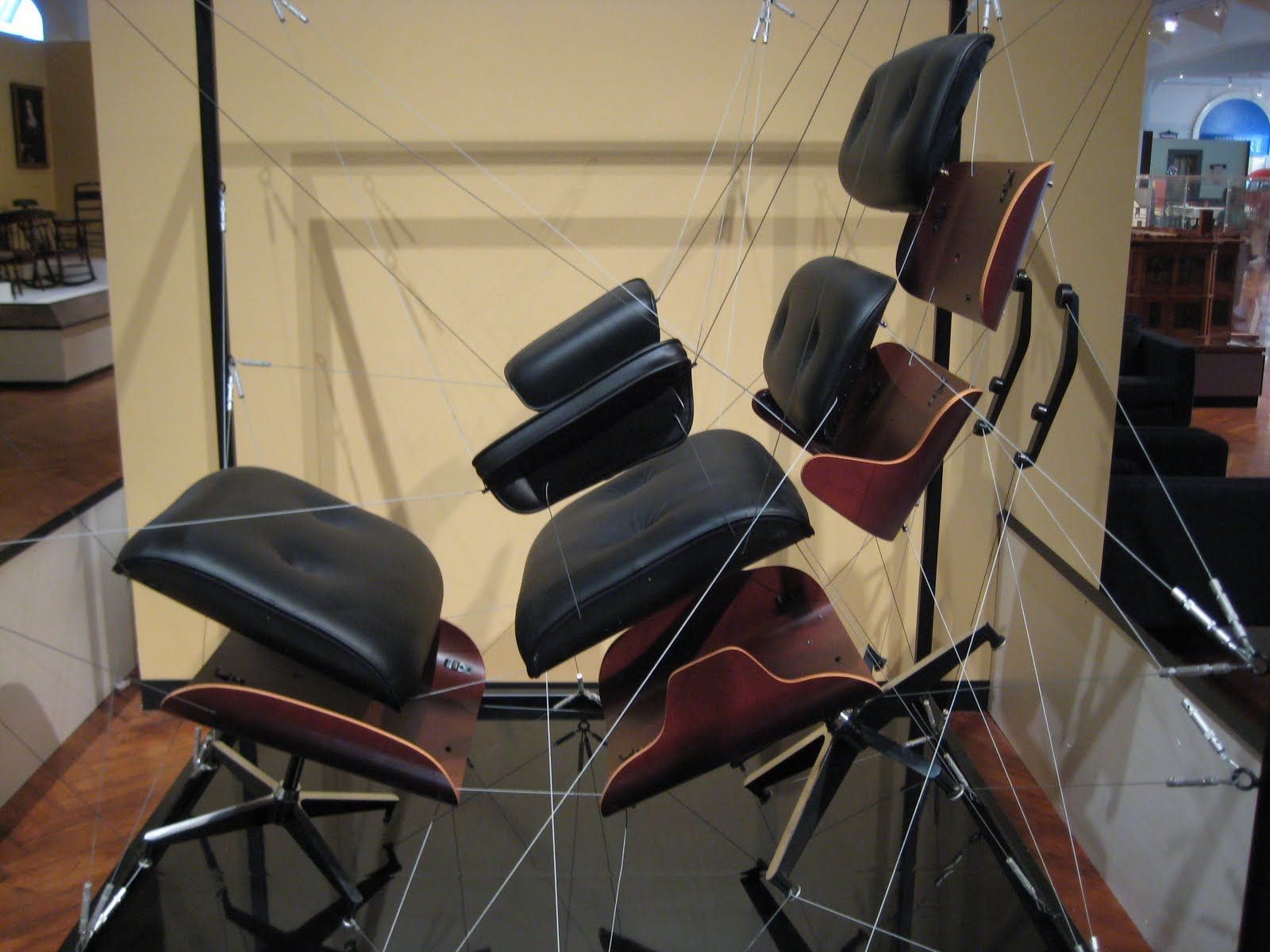 Pleasing Exploded View Of The Iconic Eames Lounge Chair Wow In Beatyapartments Chair Design Images Beatyapartmentscom