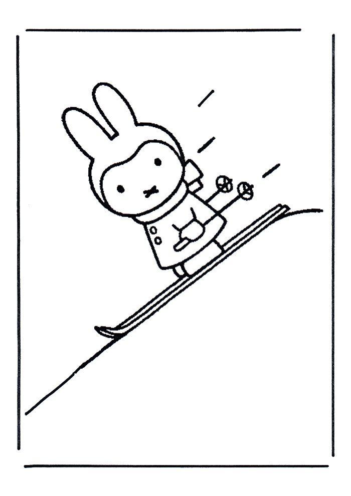 Kleurplaat Nijntje Skien Thema Sport En Bewegen Pinterest