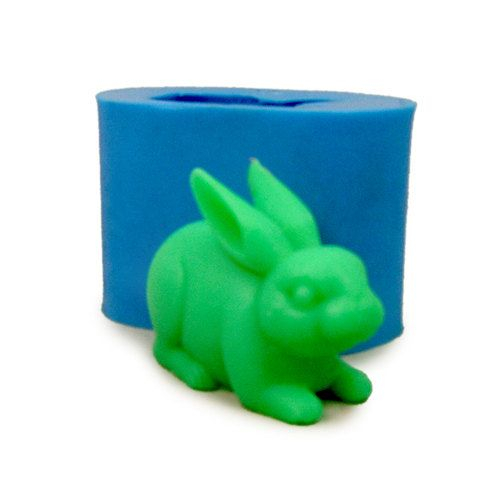Soap Mould Rabbit 3D Flexible Silicone Mold For Handmade Resin Clay Candy Candle