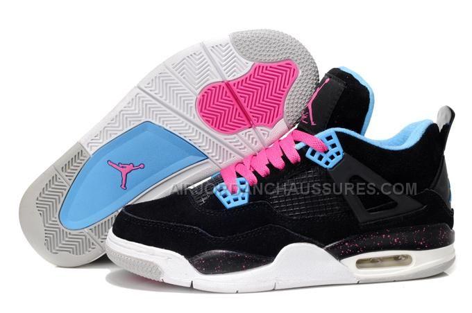 85809666375 Authentiek Air Jordan 4 anti bont Dames basketbal schoenen zwart roze blauw   AIRJORDAN -   Goedkoop Nike Nederland - Nike Air M.