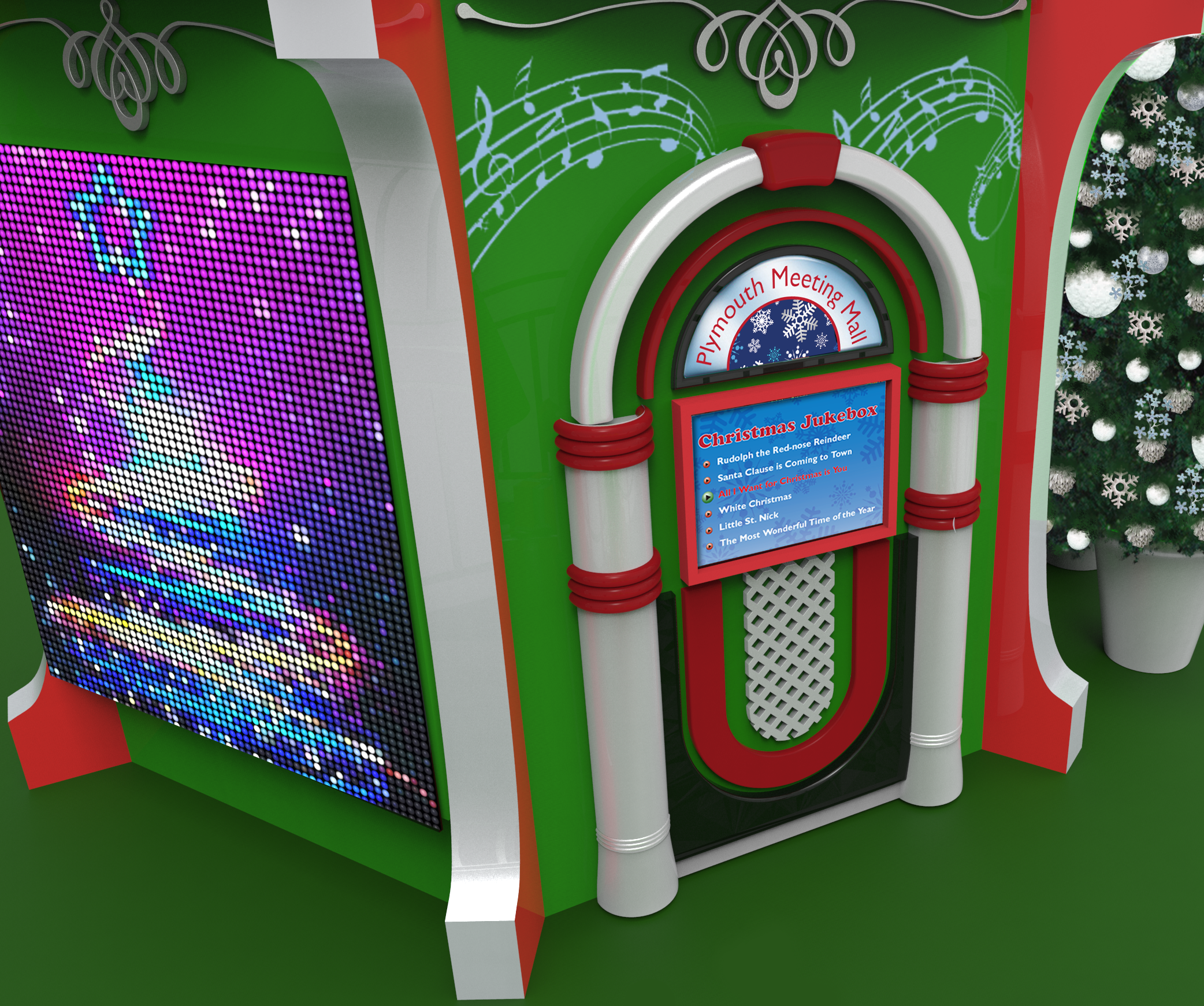 Our interactive jukebox let's you play your favorite