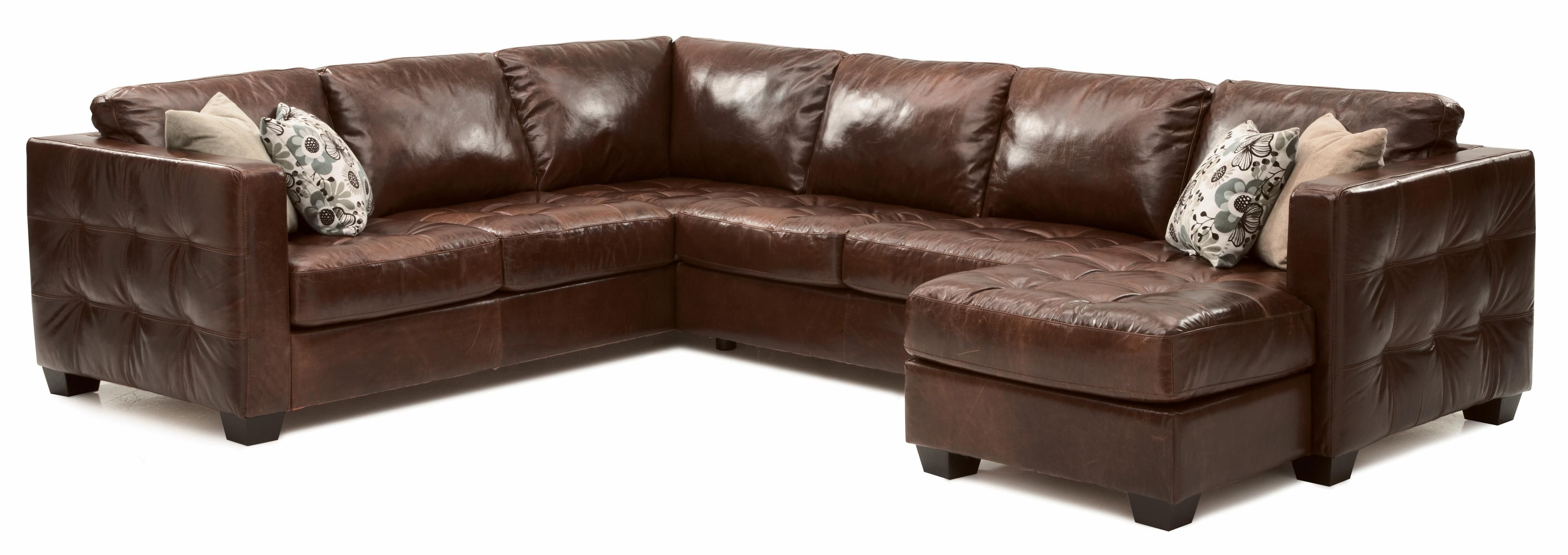 Barrett sofa sectional with decorative track arm by palliser