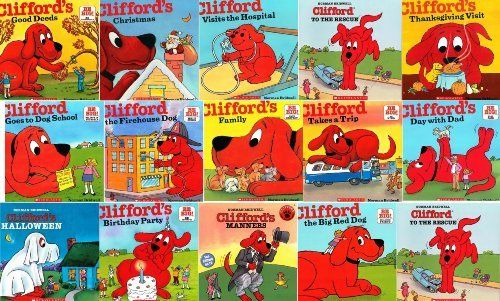 Clifford The Big Red Dog 19 Book Set Clifford S Good Deed Christmas Visits Hospital To The Rescue Th Dog School Birthday Halloween Party Christmas Books