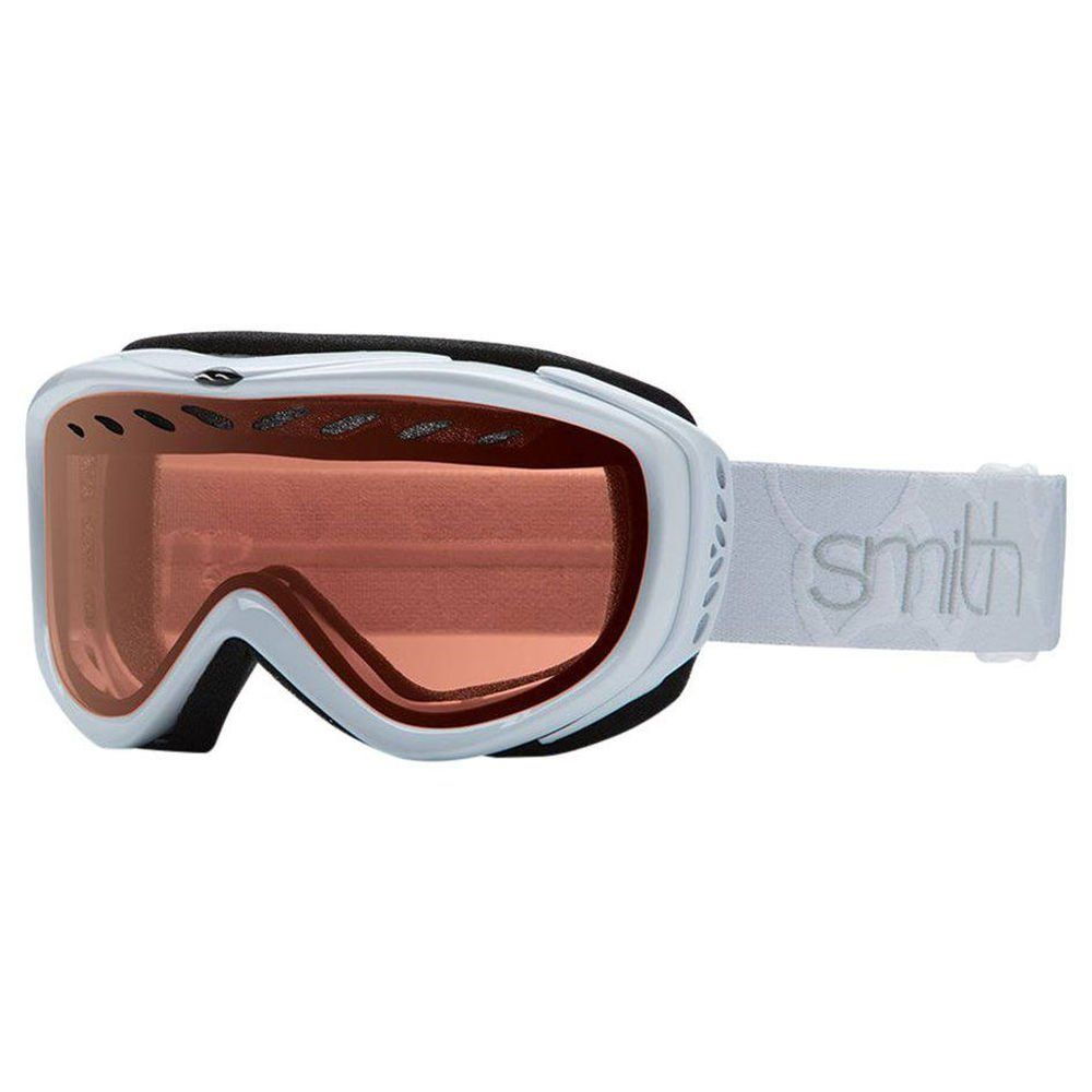 Smith Transit Snowboard Ski Goggles Womens. Cylindrical dual lens with airflow ventilation. Fog-X anti-fog inner lens. Women's Medium Fit. Dual-slide strap adjustable system. Single-layer compression-molded hypoallergenic face foam.