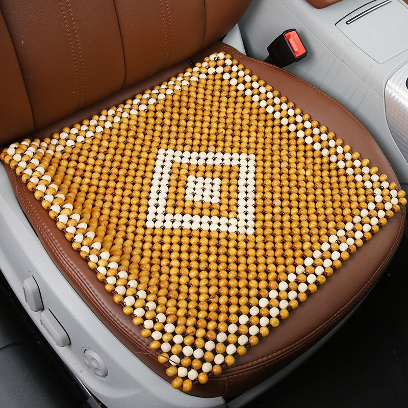 BLACK BEADED SEAT COVER CUSHION FOR FOR SSANGYONG REXTON AUTO