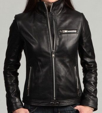 Womens Black Leather Jacket With Stand Collar Womens Black Leather Jacket Leather Jacket Leather Jacket Black