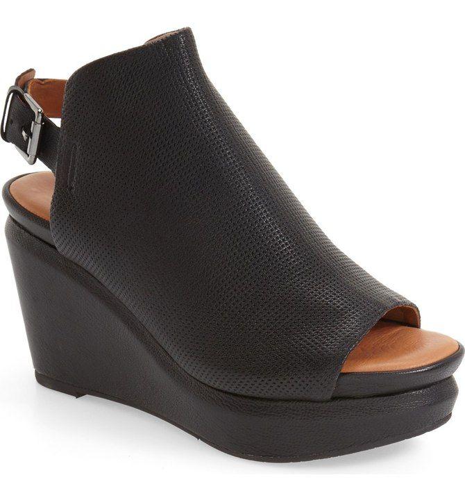 Jasper Wedge Sandal Gentle Souls Platform Wedge Sandals Black Leather Heels Wedges