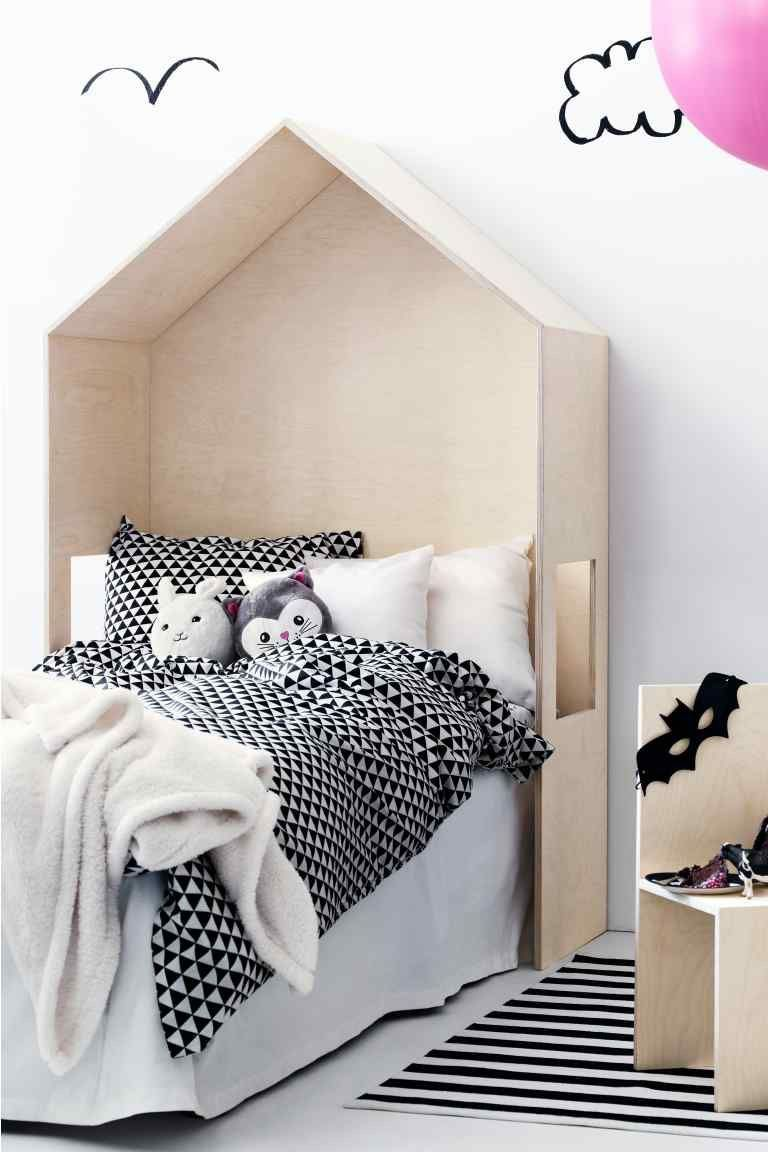 Plywood house bed head for kids room
