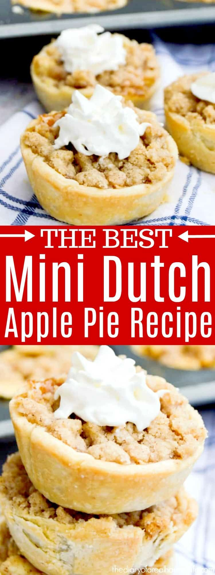 Mini Dutch Apple Pie • The Diary of a Real Housewife