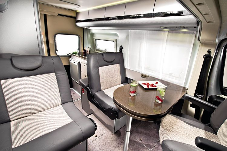Adria Twin 500 Interior Camper Van Built On A Fiat Ducato