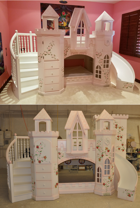 Castle Vicari Bunk Bed Themed Beds By Tanglewood Design Kid