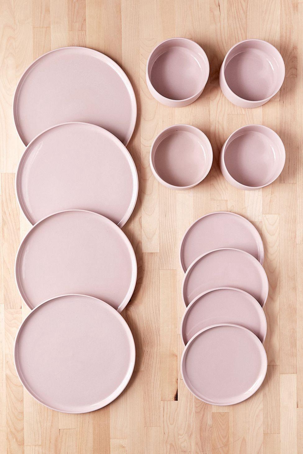 Urban Outfitters 12 Piece Modern Dinnerware Set Dark Grey One Size Dinnerware Set Modern Modern Dinnerware Ceramic Dinnerware Set