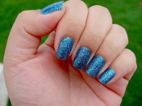 Sparkley And Long Nails Not To Mention My Favorite Color All
