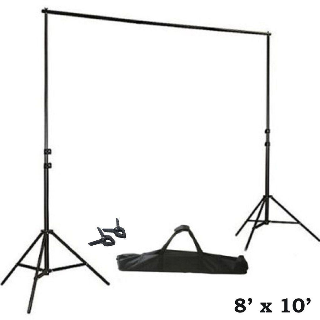 Durable and Sturdy 10Ft Heavy Duty Adjustable Photography Background Stand Kit with Case Idea for Professional Photo Studio Material