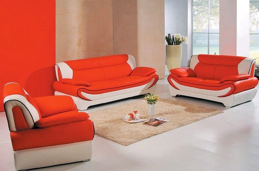 Nice Orange Sofa Set Trend 31 On Modern Inspiration With