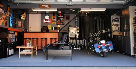 How to turn your storage unit into a mancave http www for Man cave storage