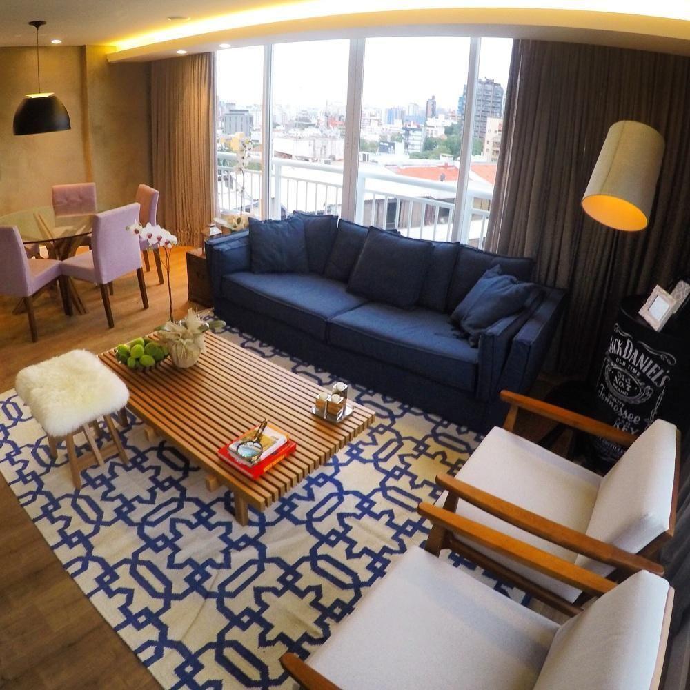 Https Www Vivadecora Com Br Foto 107814 Sofa Azul Marinho Sala  -> Decoracao De Sala De Tv Com Sofa Azul