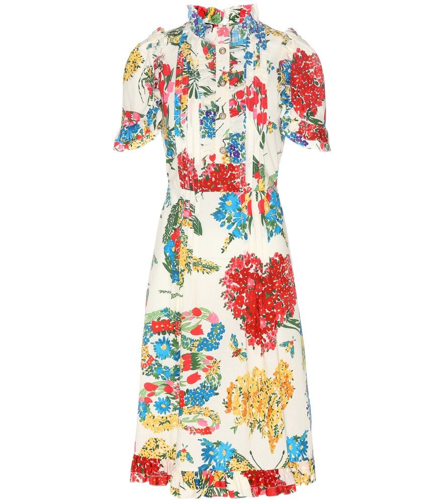 Gucci - Printed cotton dress - Crafted from lightweight cotton in ...