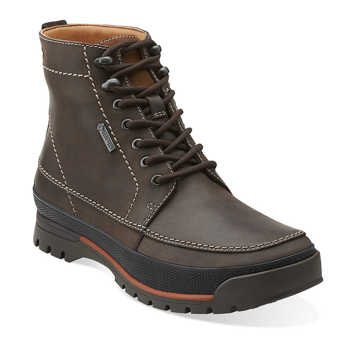 Narly Peak Gtx in Brown Leather - Warm Lined - Mens Boots from Clarks