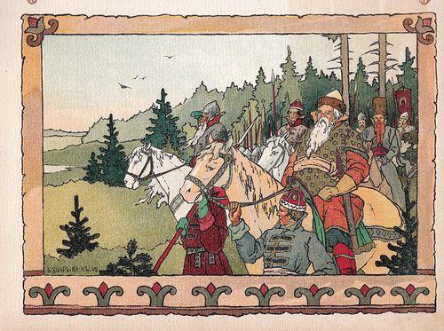 Пушкин А.С. Сказка о Золотом Петушке.1903. худ. Б.В ...