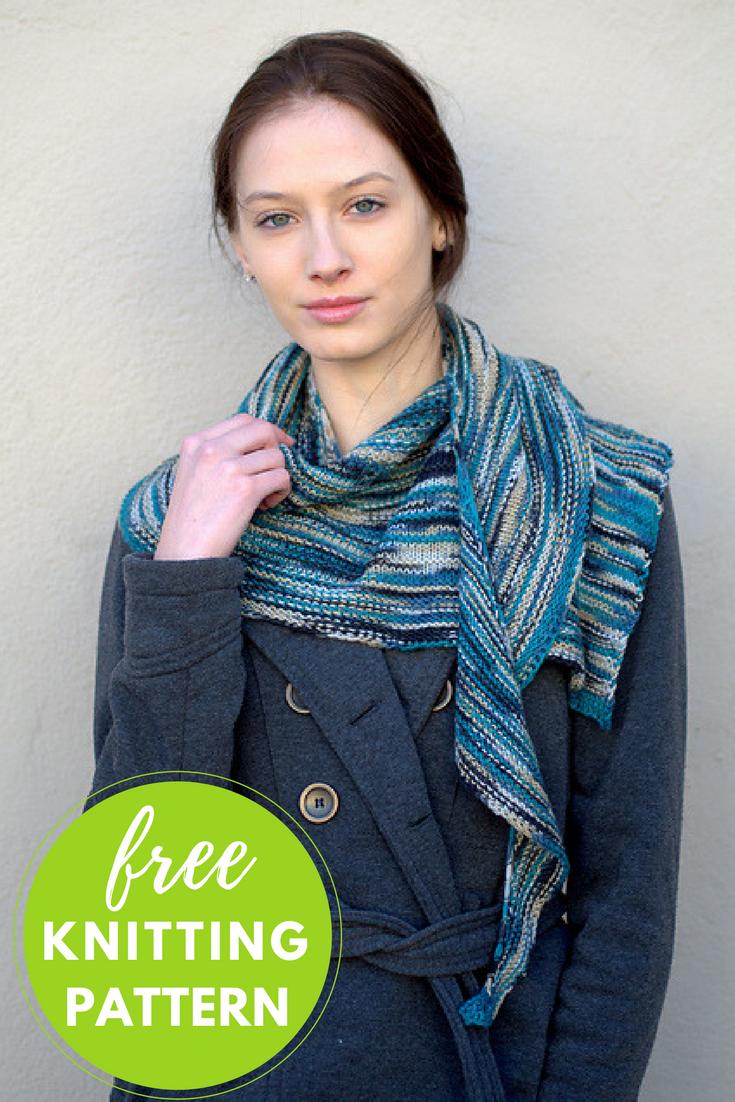 Asymmetrical Shawl Free Knitting Pattern | Knit patterns, Shawl and ...