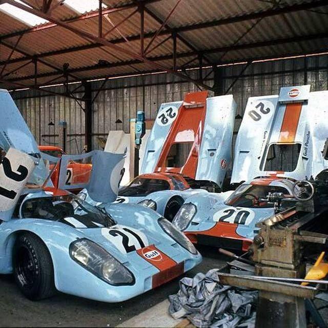 Gulf Porsche 917 S At The 1970 24 Hours Of Le Mans Porsche Cars