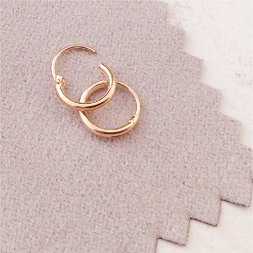 Tiny Hoop Earrings Or Nose Rings Rose Gold Over Silver 8 Mm Endless