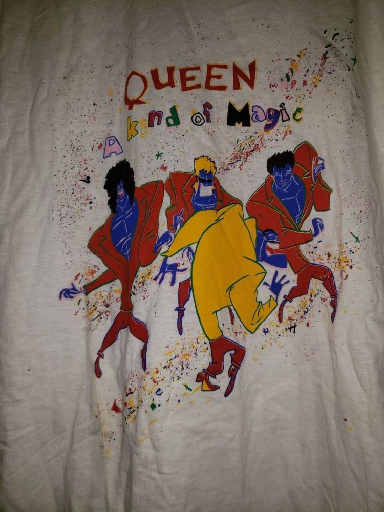 Queen Vintage 1990s A Kind Of Magic Tshirt Purcased In London 1990 Excellent L Magic Shirt A Kind Of Magic T Shirt