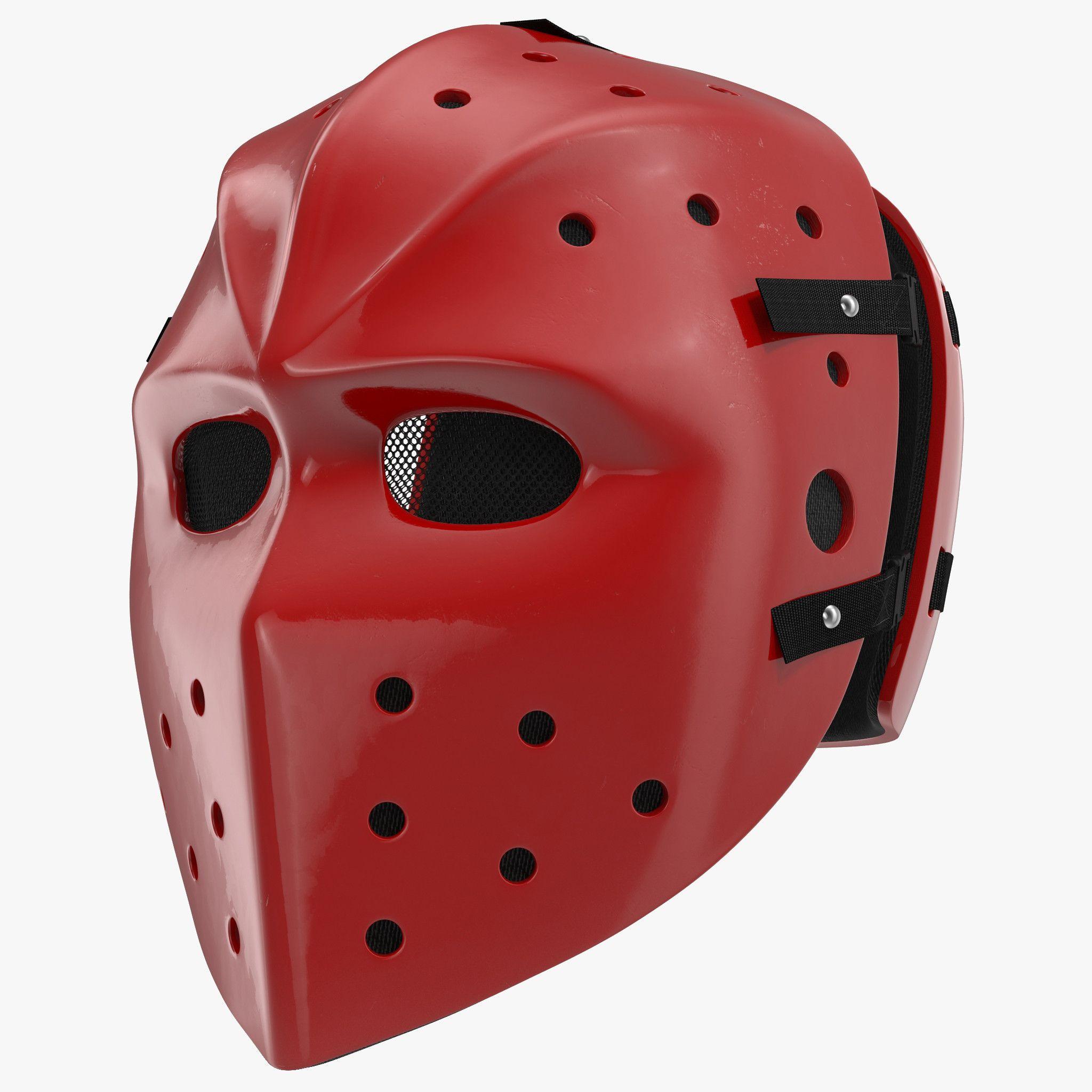 Hockey Mask 3d C4d Hockey Mask Hockey Hockey Hair