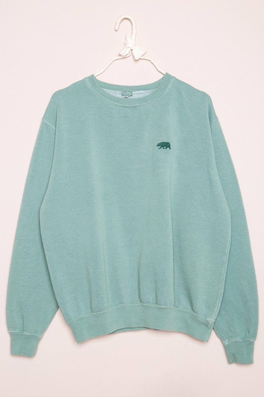 Brandy ♥ Melville | Erica CA Bear Embroidery Sweatshirt