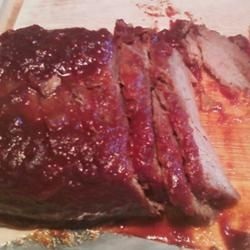 """Cousin David's Slow Cooker Brisket 