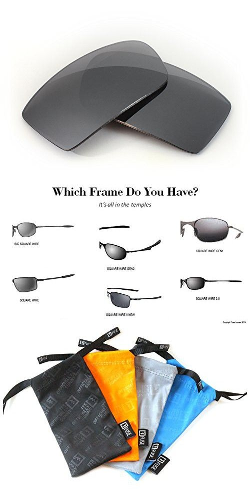 0ec1e2d080 FUSE Grey Tint Replacement Lenses for Oakley Square Wire 2.0 ...