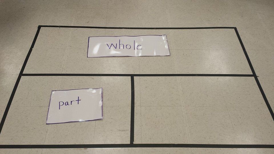 This is my floor visual of the tape diagram it will help for Floor mathematics