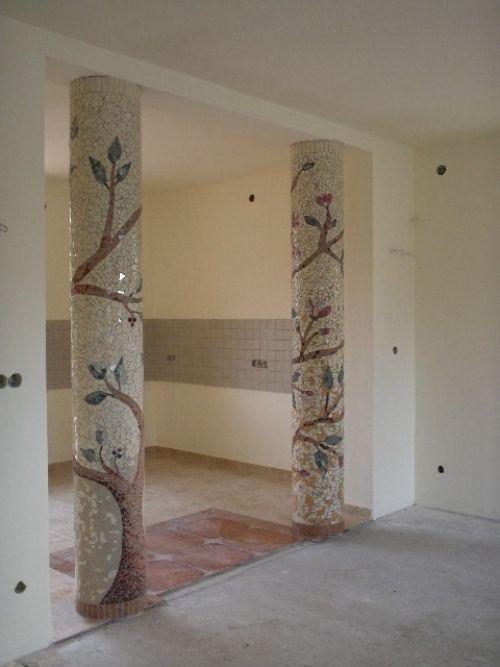 Mosaic Tree Pillars
