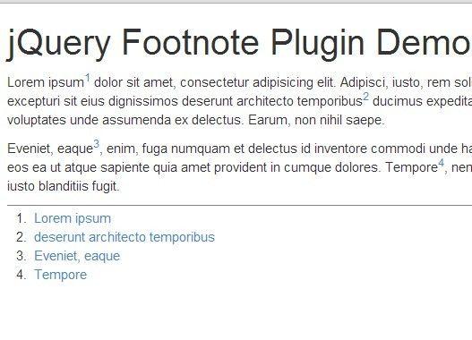 Minimal jQuery Auto Footnote Plugin - Footnote | jQuery Plugins