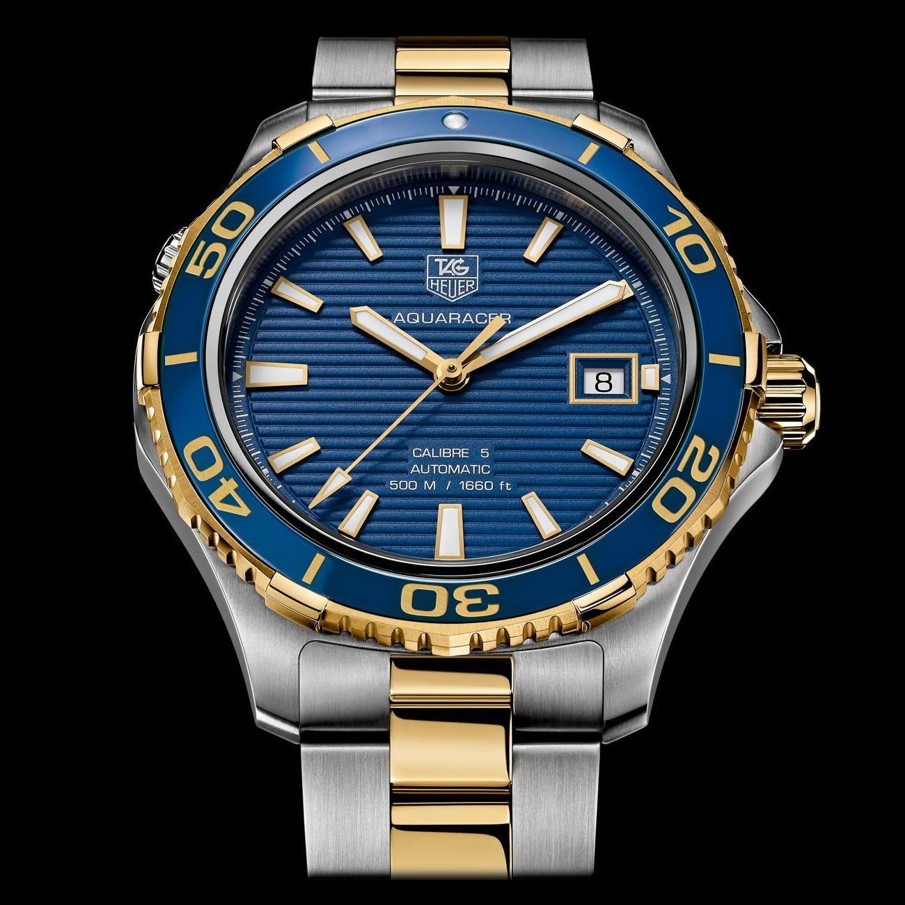 Tag Heuer Aquaracer. Two toned, gold plated & stainless ...