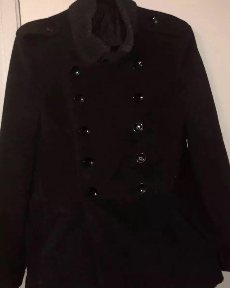 Mens Military Coat Jacket Size Medium Foreign Exchange Similar Zara Man Fashion Clothing Shoes Accessories Mensclothing Coatsjackets Ebay Link