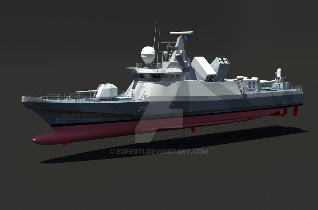 WIP concept Fast attack Craft (FAC) missile boat