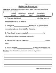 Pronoun Worksheet 6Th Grade Worksheets for all | Download and ...