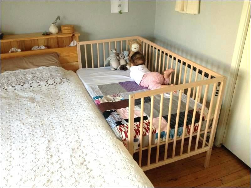 Crib Attached To Bed Baby Crib Attached To Parents Bed Cot
