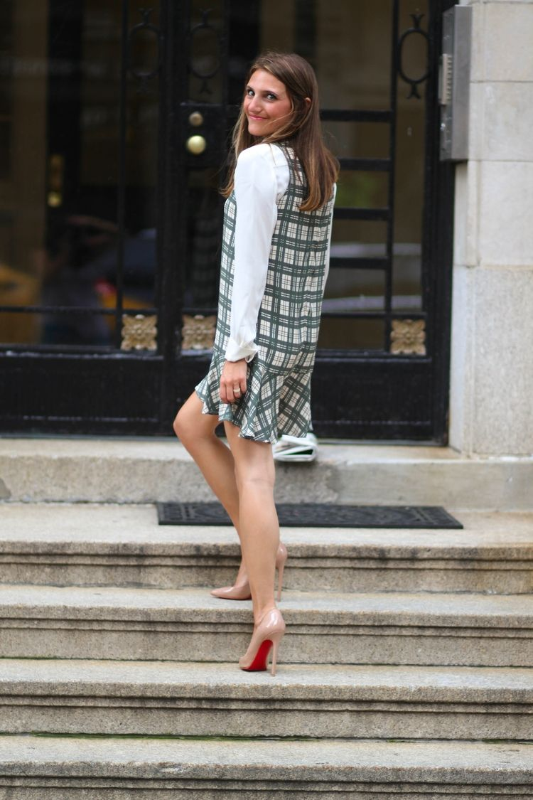Plaid for Work & Play with #thatpencilskirt photography by #HBGPhotography of www.halliegeller.com