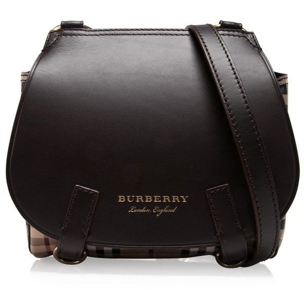 abc57c8c1286 Burberry Bridle House Check Crossbody Bag ( 920) ❤ liked on Polyvore  featuring bags