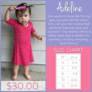 Information And Sizing Chart For Lularoe Adeline Dress Click To Join My Vip Ping Group Learn More This Style