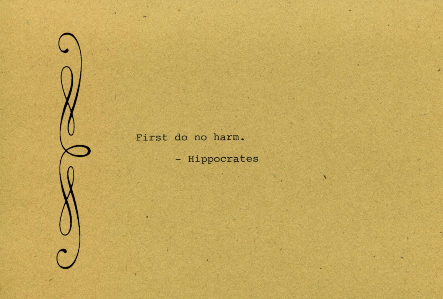 Hippocrates Quote Made on Typewriter Art Quote Wall Art - First do ...