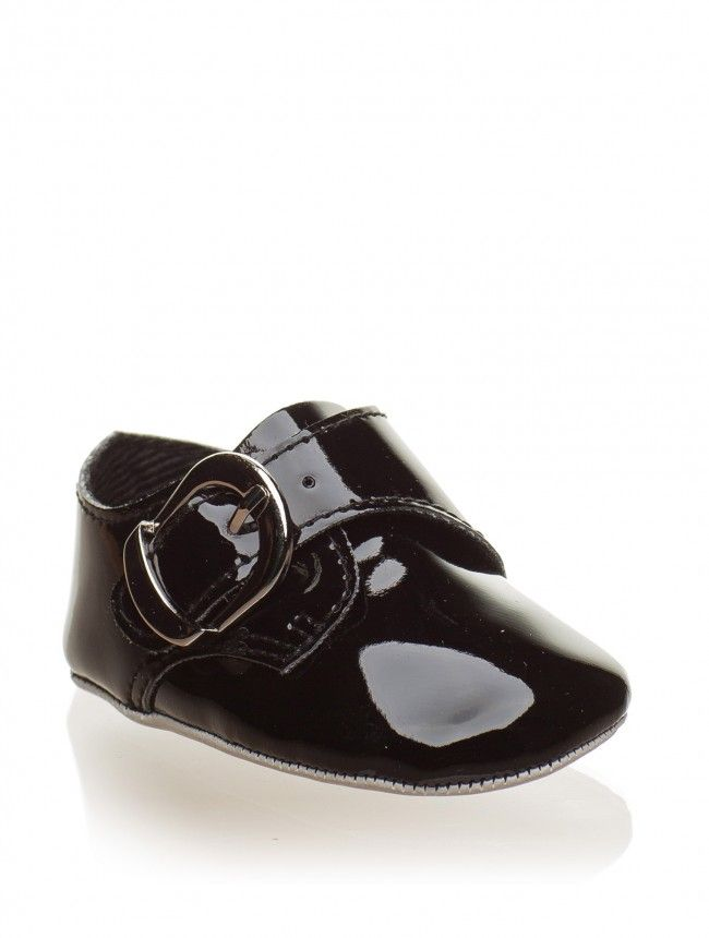 2840a2f29f4a Baby boys patent black formal shoes